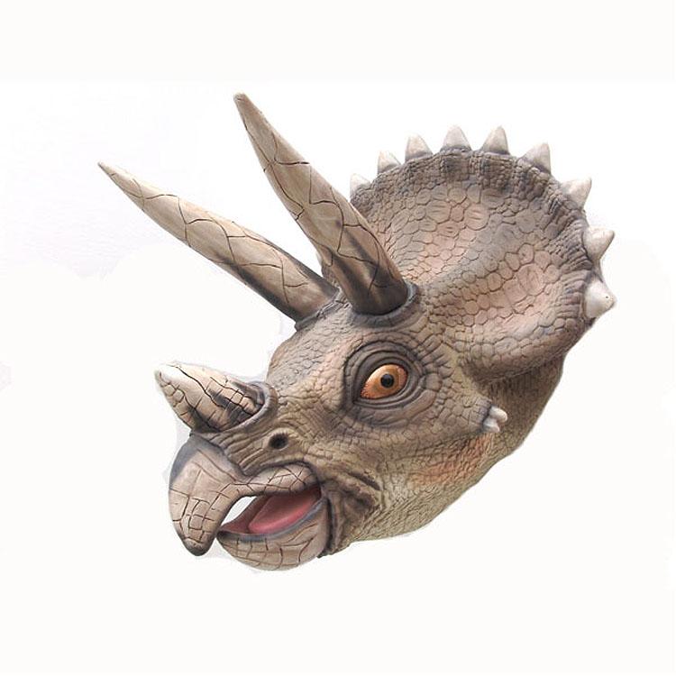 triceratops dreihorn dinosaurier figur statue deko fan skulptur uhrzeit tiere ebay. Black Bedroom Furniture Sets. Home Design Ideas
