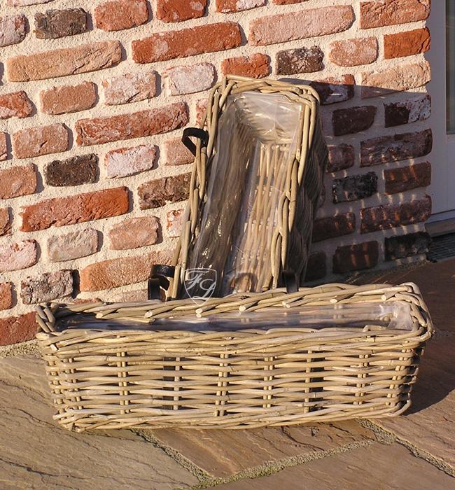 rattan korb pflanzkasten pflanzschale rattankorb bakon shabby chic landhaus neu ebay. Black Bedroom Furniture Sets. Home Design Ideas