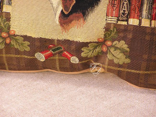 jagd horn beagle jagdhund j ger deko kissen jagdzimmer. Black Bedroom Furniture Sets. Home Design Ideas