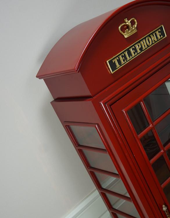 englische telefonzelle britische als vitrine schrank deko. Black Bedroom Furniture Sets. Home Design Ideas