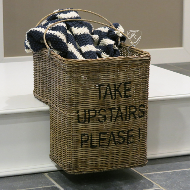 treppenkorb stufenkorb aufbewahrung korb rattan maritim shabby chic landhaus neu ebay. Black Bedroom Furniture Sets. Home Design Ideas