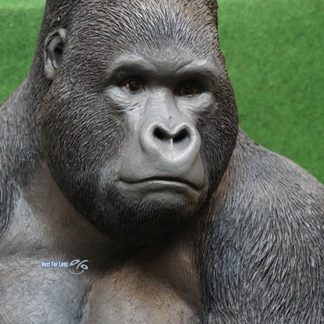 gorilla affe figur skulptur deko afrika wildtiere urwald. Black Bedroom Furniture Sets. Home Design Ideas