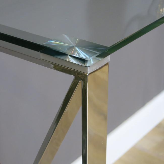 Konsolentisch wandtisch glas metall vintage modern impressionen shabbychic tisch ebay - Glas konsolentisch ...