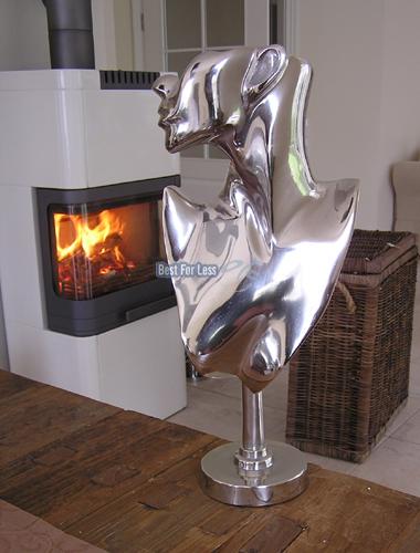 frau alu aluminium deko figur abstrakte skulptur statue impressionen art modern. Black Bedroom Furniture Sets. Home Design Ideas