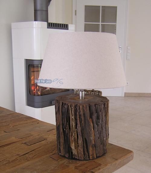 schwemmholz lampe holz tischleuchte nachttisch leuchte. Black Bedroom Furniture Sets. Home Design Ideas