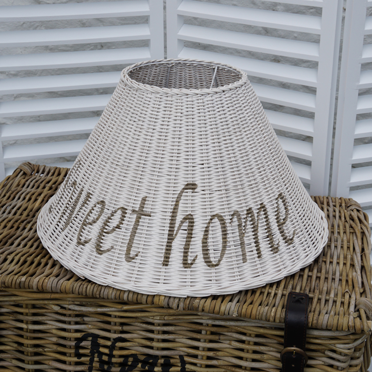 korb rattan lampenschirm home landhaus maritim. Black Bedroom Furniture Sets. Home Design Ideas