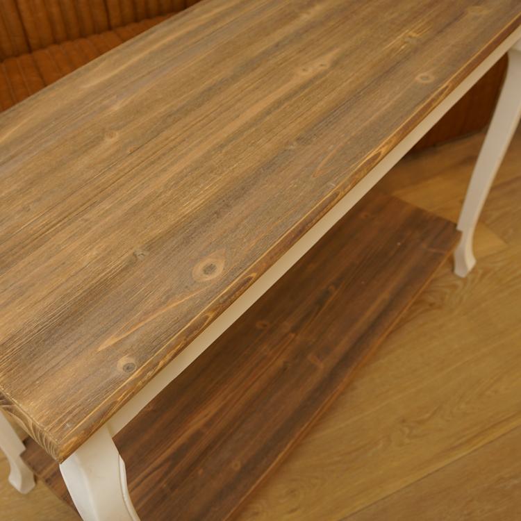 Konsolentisch Tisch Shabby Chic Vintage Weiss Natur