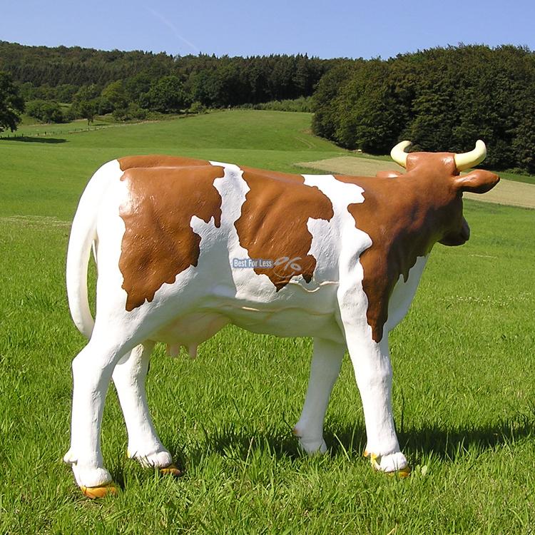 Deko Kuh Figur Braun Wei Tiere Milchviehhaltung Bauernhof