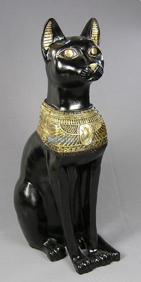 gyptische katze ca 72 cm bastet figur statue deko gypten. Black Bedroom Furniture Sets. Home Design Ideas