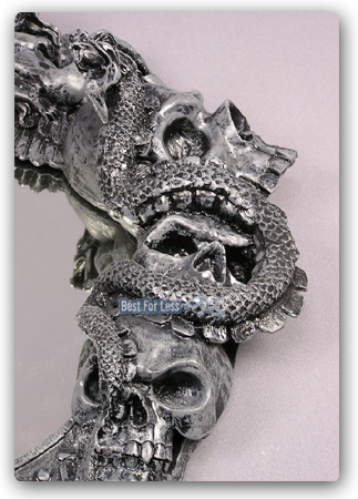 totenspiegel heavy metal gothic m bel skull spiegel totenkopf dekoration figur ebay. Black Bedroom Furniture Sets. Home Design Ideas