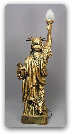 New york freiheitsstatue of liberty statue figur lampe usa for Usa zimmer deko