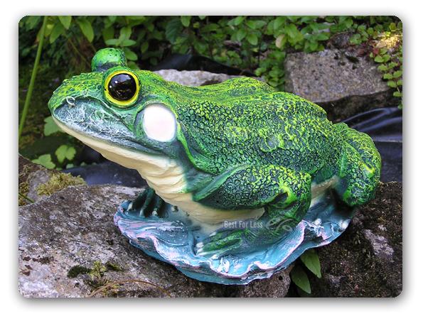 Frosch statue figur gr ner garten aufstellfigur deko for Frosch figur garten
