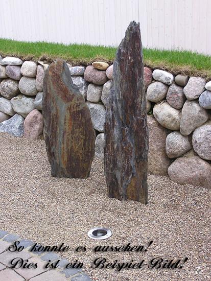 Schiefer stein schieferstein findling naturstein garten for Steingarten deko