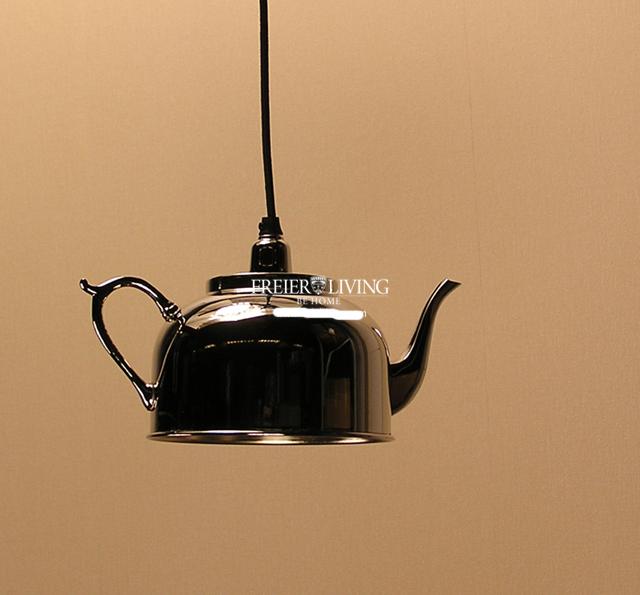 h ngeleuchte h ngelampe esszimmer shabby chic art deco kanne kaffeekanne deko ebay. Black Bedroom Furniture Sets. Home Design Ideas