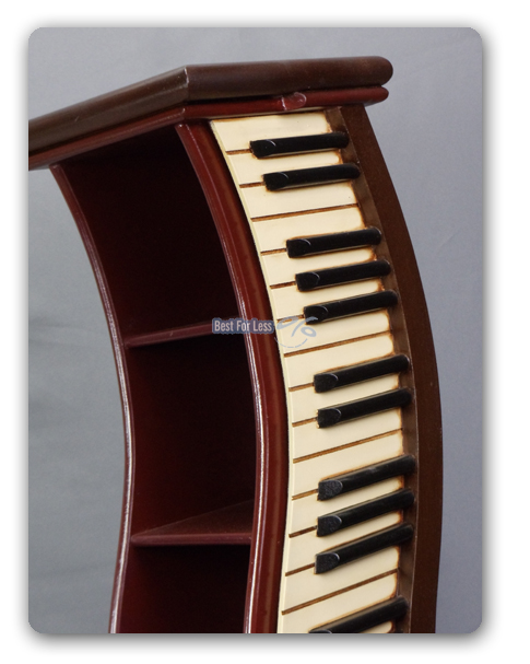 klavier piano fl gel cd st nder regal elegant holz deko. Black Bedroom Furniture Sets. Home Design Ideas