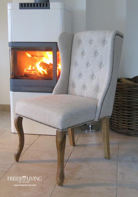 ohren stuhl polsterstuhl esszimmer sessel chesterfield shabby chic impressionen ebay. Black Bedroom Furniture Sets. Home Design Ideas