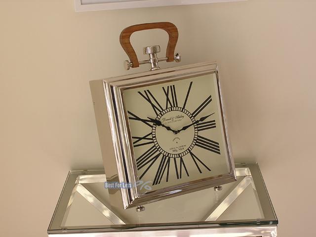 Uhr Tischuhr Tisch Shabby Chic Impressionen Chrom