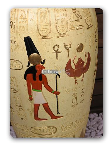 gypten gyptische deko ladeneinrichtung vase figur urne. Black Bedroom Furniture Sets. Home Design Ideas