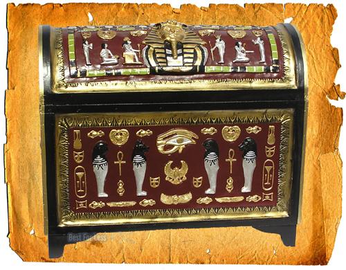 gyptische gypten truhe kiste m bel deko dekoration. Black Bedroom Furniture Sets. Home Design Ideas