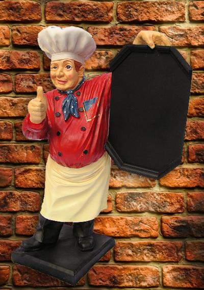 Koch werbung ca 71 werbefigur figur gastro gastronomie for Gastro deko