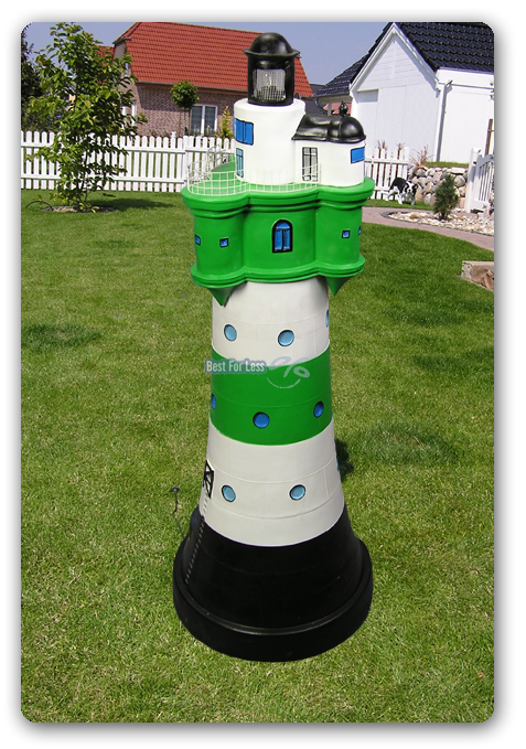 Leuchtturm maritime garten sylt meer beleuchtet deko gr n wei strand see meeres - Maritimer garten ...