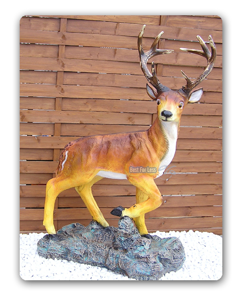 Jagd dekoration j ger deko reh bock geweih figur hirsch for Weihnachtsreh beleuchtet