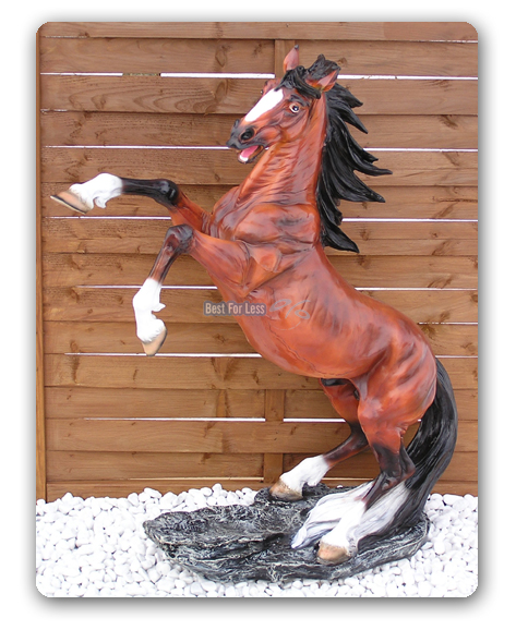 wildpferd pferd mustang figur dekofigur statue skulptur western dekoration deko ebay. Black Bedroom Furniture Sets. Home Design Ideas