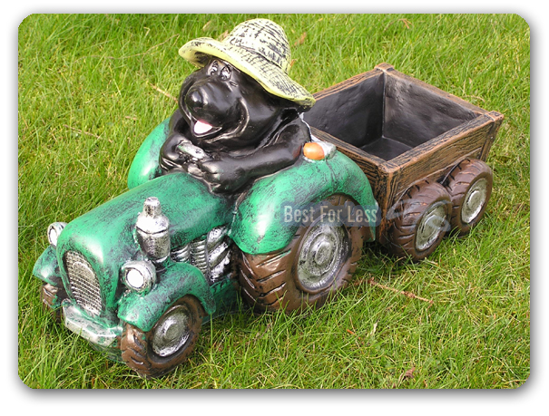 lustige garten deko figur gartenfigur maulwurf statue trecker traktor garten neu ebay. Black Bedroom Furniture Sets. Home Design Ideas