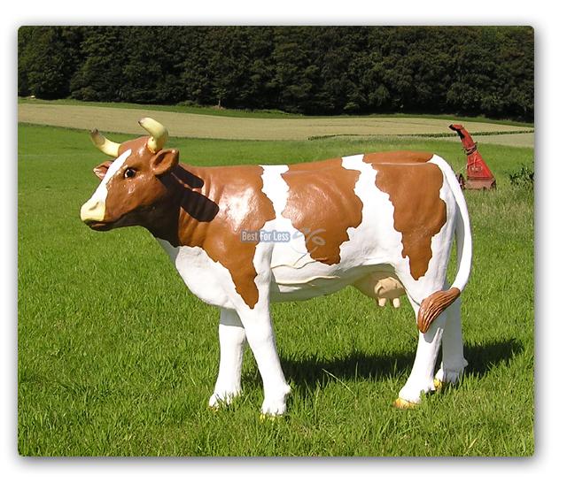Deko Kuh Figur Fast Lebensgro Milchviehhaltung Bauernhof
