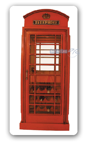 englische telefonzelle wein vitrine schrank deko neu. Black Bedroom Furniture Sets. Home Design Ideas