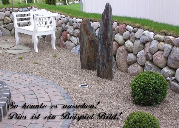 schiefer stein schieferstein findling naturstein garten stehle steingarten deko ebay. Black Bedroom Furniture Sets. Home Design Ideas