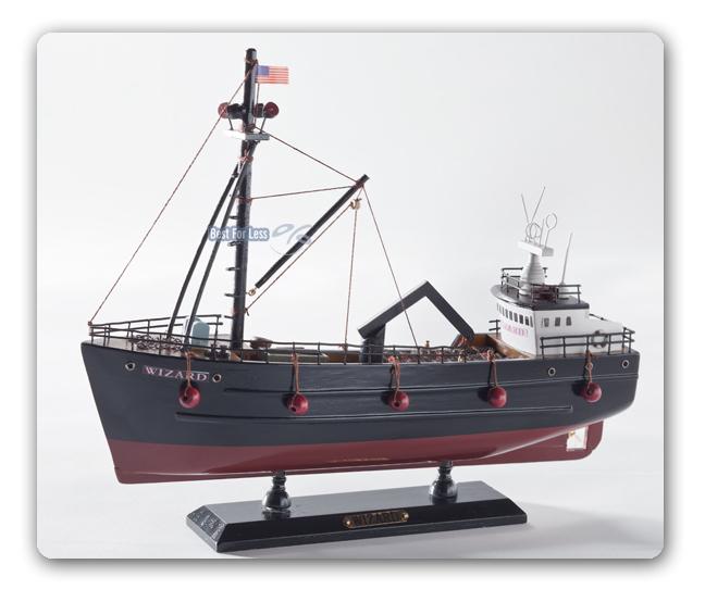 neu wizard holz maritim dekoration modellschiff krabbenkutter modell schiff deko ebay. Black Bedroom Furniture Sets. Home Design Ideas