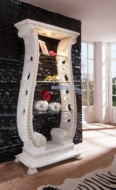 vitrine regal antik brock deko rokoko stil m bel objekt shabby chic impressionen ebay. Black Bedroom Furniture Sets. Home Design Ideas