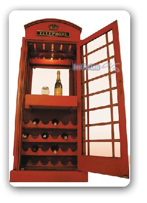 ausgefallener weinschrank wein regal vitrine britische englische telefonzelle ebay. Black Bedroom Furniture Sets. Home Design Ideas